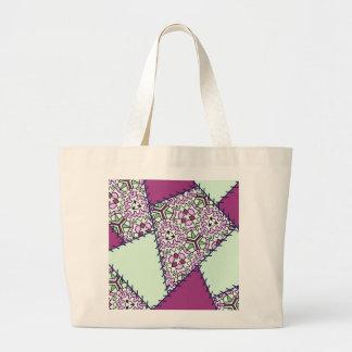 Kastanjebruine het limoen groene en roze druk van  tas