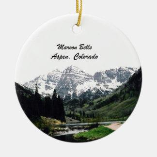 Kastanjebruine Klokken, Esp, Colorado Rond Keramisch Ornament