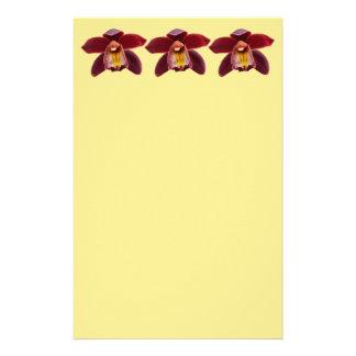 Kastanjebruine Orchideeën I Mooie Rode Bloemen Briefpapier