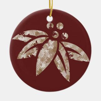 Kastanjebruine Poinsettia - Ornament