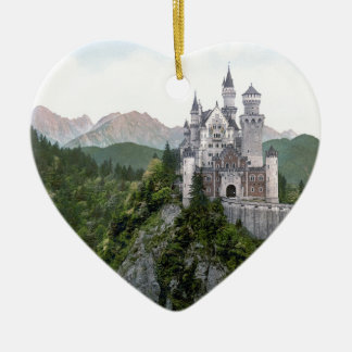 Kasteel 5 van Neuschwanstein Keramisch Hart Ornament
