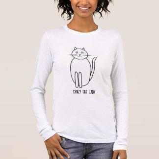 kat, de Gekke Dame van de Kat T Shirts