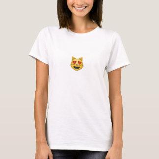 kat emoji (t-shirt/vrouwen) t shirt