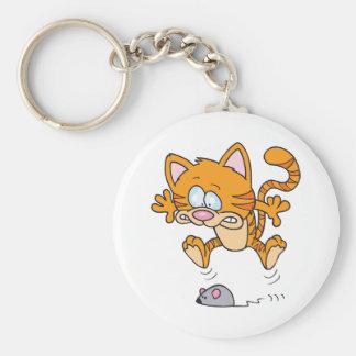 Kat en een Muis Keychain Sleutelhanger