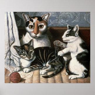 Kat en Katjes, c.1872-1883 Poster