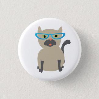 Kat in de Knoop van Glazen Ronde Button 3,2 Cm