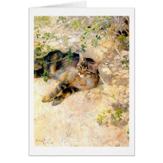 Kat in de Zonneschijn, Bruno Liljefors Kaart