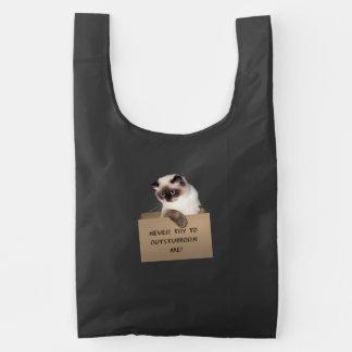 Kat in Doos Herbruikbare Tas