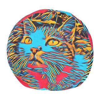 Kat in een Diep Ontwerp van de Kunst Poef