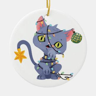 Kat in het Ornament dat van de Lichten van