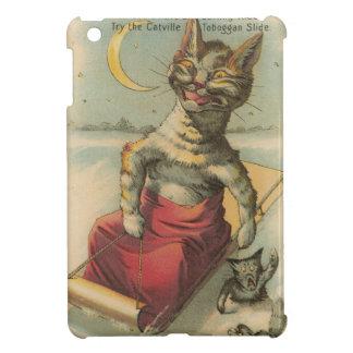 Kat op een Slee Hoesje Voor iPad Mini