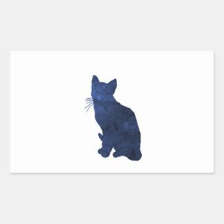 Kat Rechthoekige Sticker