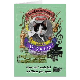 Kat van de Componist van Depussy van de Parodie Kaart