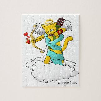 Kat van de Cupido van de Gember van de Legpuzzel