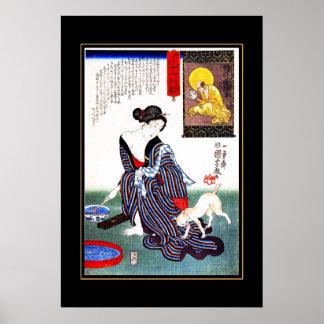 Kat van de Vrouw van de Vintage Kunst van het Poster