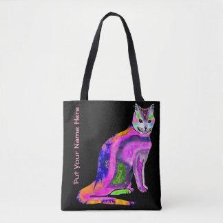 Kat van het Bolsa van Vele Kleuren Draagtas
