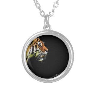 Kat van het Bont van de tijger de Roofdier Mooie Zilver Vergulden Ketting