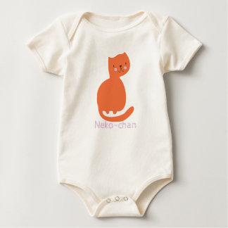Kat van het Kat van Kawaii de Leuke Oranje. Voeg Baby Shirt