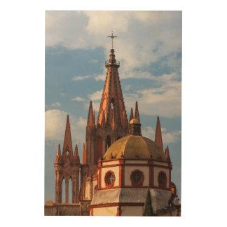 Kathedraal van San Miguel Archangel Hout Afdruk