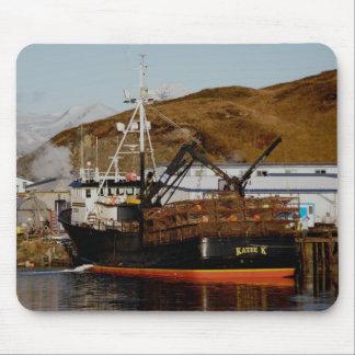 Katie K, de Boot van de Krab in Nederlandse Haven, Muismat