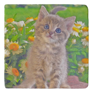 Katje en Bloemen Trivet