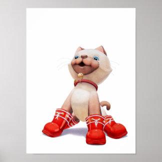 Katje met de Rode Druk van het Kinderdagverblijf v Poster
