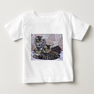 Katjes die op een stoel ontspannen baby t shirts