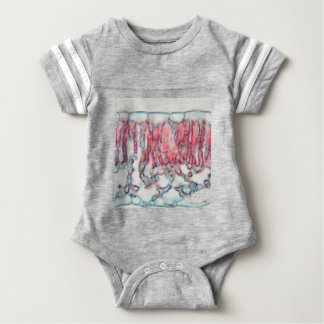 Katoenen blad onder de microscoop baby bodysuit