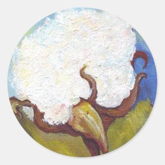 Katoenen Bol van lidstaten Ronde Sticker