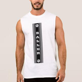 Katoenen van het Mannen van Baller UltraMouwloos T Shirt