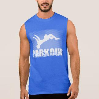 Katoenen van het Mannen van Parkour UltraMouwloos T Shirt
