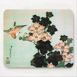 Katsushika Hokusai (葛飾北斎) - Hibiscus en Mus Muismat