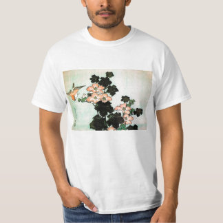 Katsushika Hokusai (葛飾北斎) - Hibiscus en Mus T Shirt
