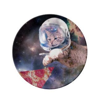katten astronaut - grappige katten - katten in porseleinen bord