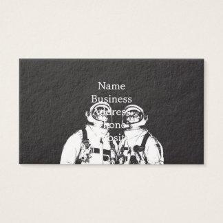 katten astronaut - zwart-witte kat - kat memes visitekaartjes