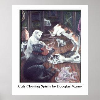 Katten die Geesten achtervolgen Poster
