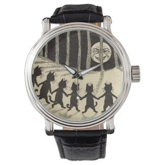 Katten die in het Horloge van het Maanlicht dansen