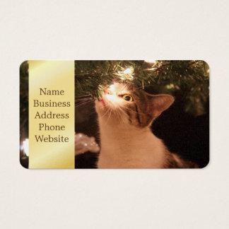 Katten en lichten - de kat van Kerstmis - Visitekaartjes