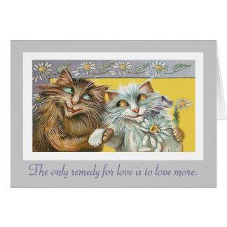 Katten in Liefde en Citaat Thoreau Kaart