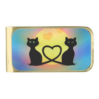 Katten in Liefde Vergulde Geldclip