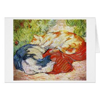 Katten op een Rode Doek, Franz Marc Briefkaarten 0