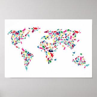 katten van het wereldposter poster