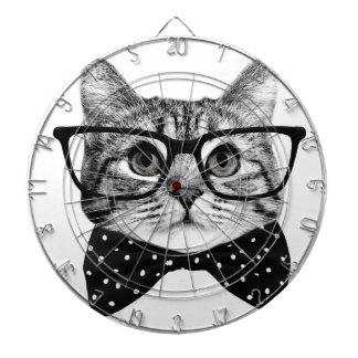 katten vlinderdas - de kat van Glazen - glaskat Dartbord