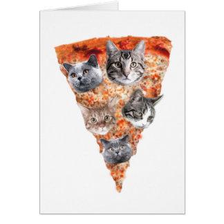 Katten voor de pizza-Minnaar Wenskaart