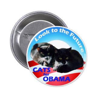 Katten voor Obama Ronde Button 5,7 Cm
