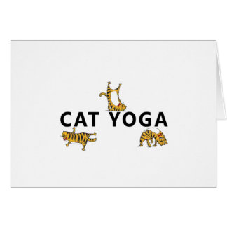 katten yoga briefkaarten 0