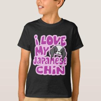 Kawaii Blk I houdt van Mijn Japanse Kin T Shirt