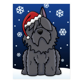 Kawaii Bouvier des Flandres Christmas Briefkaart