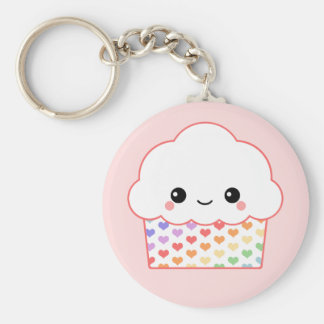 Kawaii Cupcake Basic Ronde Button Sleutelhanger