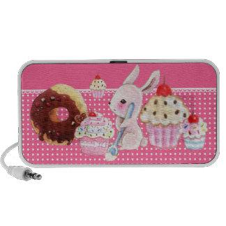 Kawaii cupcakes en leuk konijntje - Spreker Doolle Reis Speaker